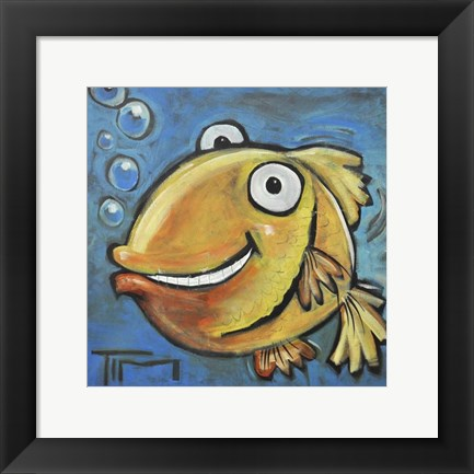 Framed Fish Poster Print