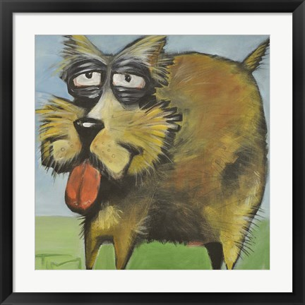 Framed Murphy Stout Dog Print