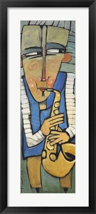 Framed Saxophone Player Print
