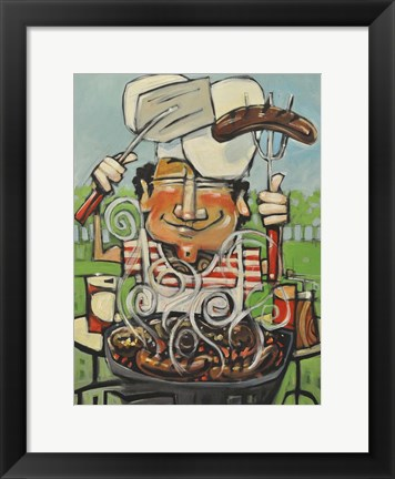 Framed King Of The Grill Print