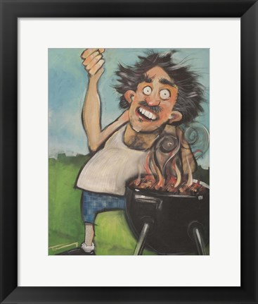 Framed Madman With Grill Print
