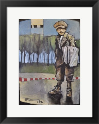 Framed Newsboy Print