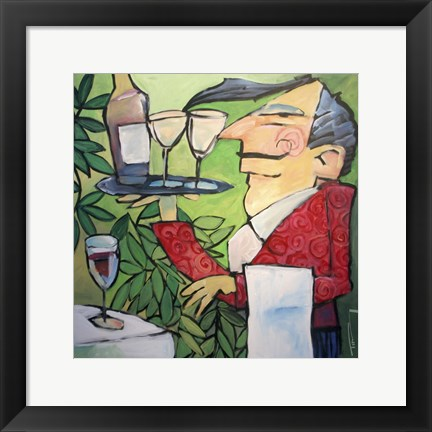 Framed Wine Steward Print
