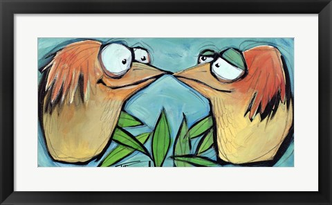 Framed Beak To Beak 2 Print
