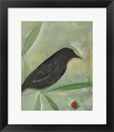 Framed Bird And Berry 1 Print