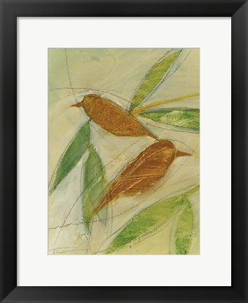 Framed Brown Birds At Rest Print