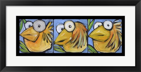 Framed Gold Bird Trio Print