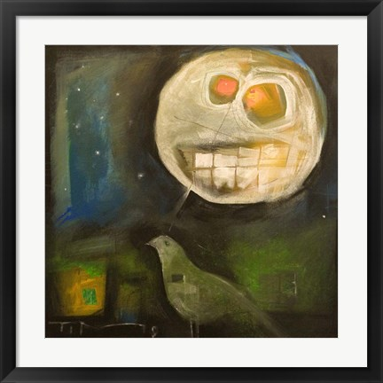 Framed Nightbird Harvestmoon Print
