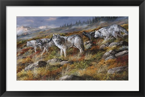Framed Autumn In Alaska Print
