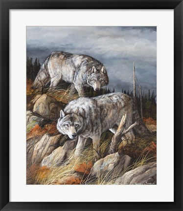 Framed Hunting Brothers Print