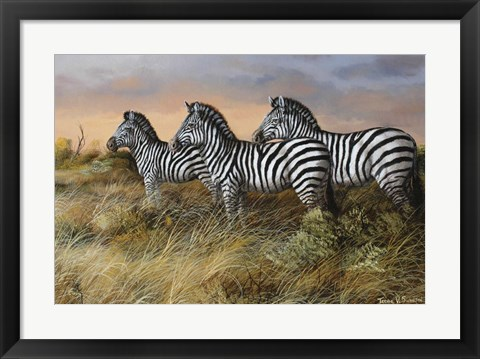 Framed Serengeti Sunset Print