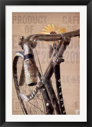 Framed Pearl Street Cycle Print
