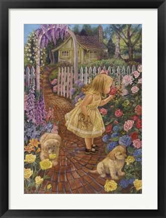 Framed Stop and Smell The Roses Print