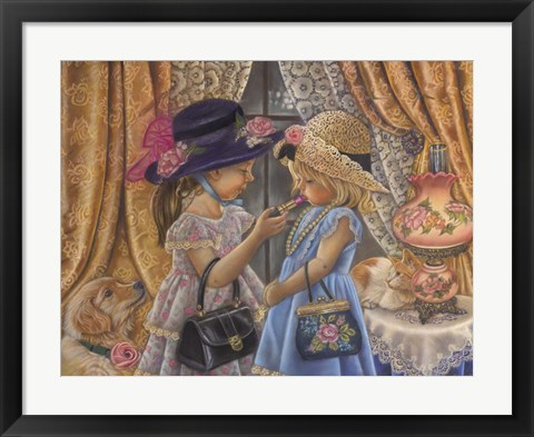 Framed Playing Dress Up Print