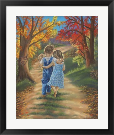 Framed Fall in Love Print