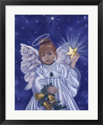 Framed Angel Of Christmas Print