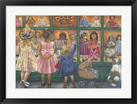 Framed Dolls To Treasure Print