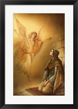 Framed Angel and Mary Print