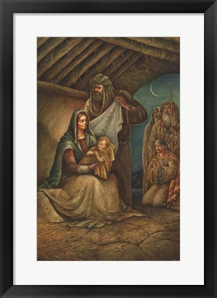 Framed Nativity Print