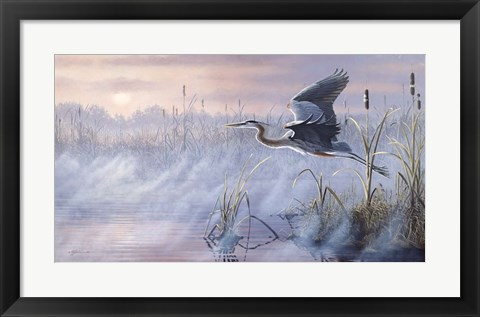 Framed Rising Marsh Print