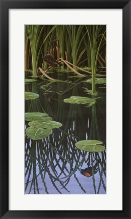 Framed Reflections Of Courtship Print