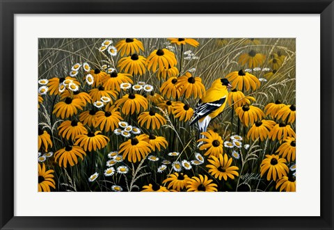 Framed Summer Gold Print