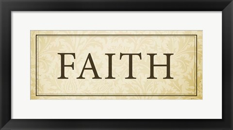 Framed Faith Plaque Print