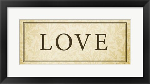 Framed Love Plaque Print