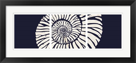 Framed Contemporary Coastal Triptych 2 Print