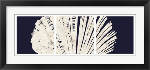 Framed Contemporary Coastal Triptych 3 Print