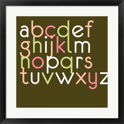 Framed Contemporary Baby Letters II Print