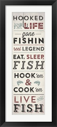 Framed Fishing Typography Print
