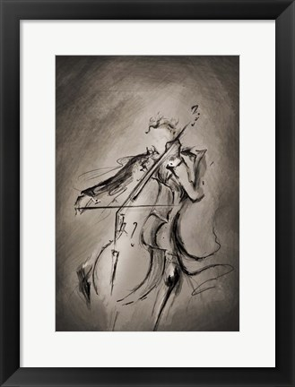 Framed Cellist Print