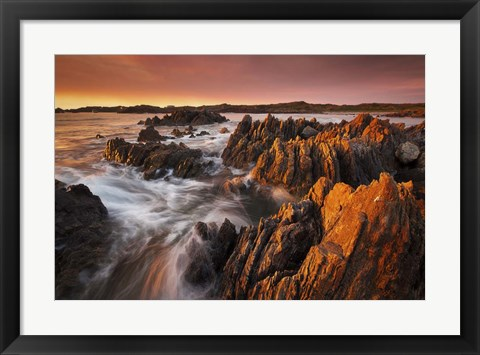 Framed Couta Rocks Print