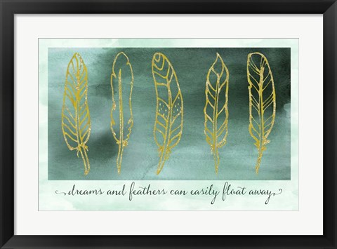 Framed Gathering Feathers Two Print