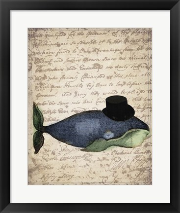 Framed Big Whale Print