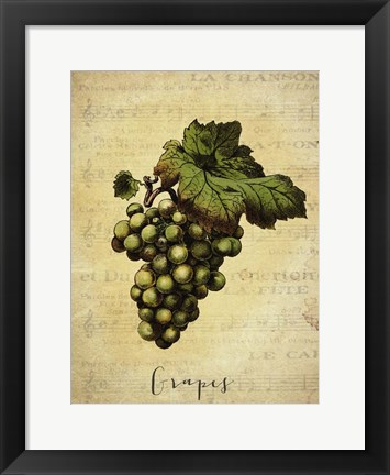 Framed Grapes 2 Print