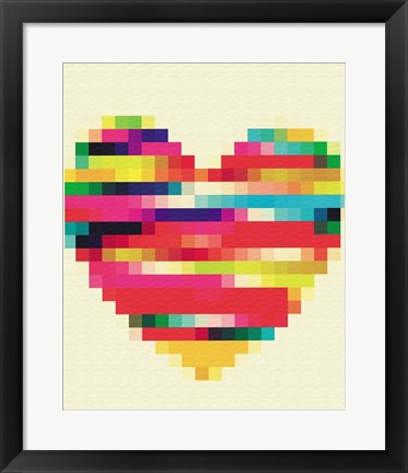Framed Rainbow Heart Print