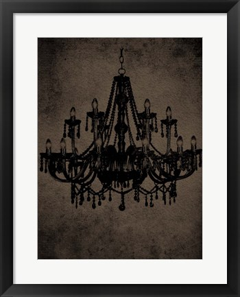 Framed Chandelier III Print