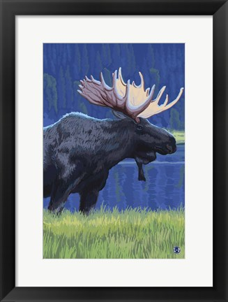 Framed Moose 1 Print