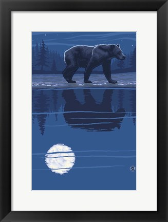 Framed Black Bear 2 Print