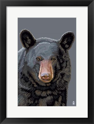 Framed Black Bear 3 Print