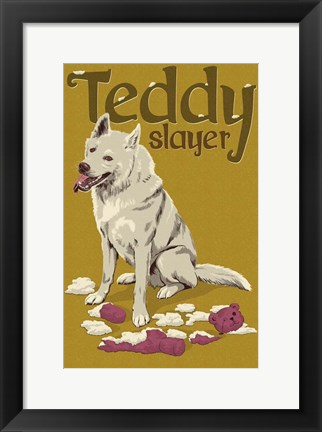 Framed Teddy Slayer Print