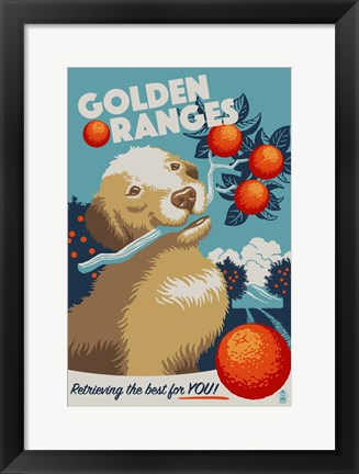 Framed Golden Ranges Print