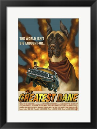 Framed Greatest Dane Print