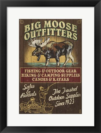 Framed Big Moose Outfitters Print