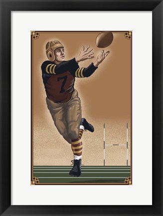 Framed Vintage Football 2 Print