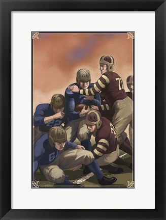 Framed Vintage Football 4 Print
