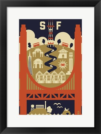 Framed San Francisco 3 Print