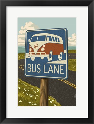 Framed Bus Lane Print